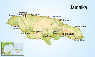 Landkarte von Jamaika