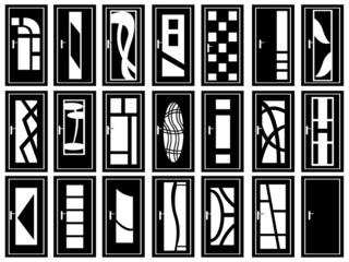 Illustration of doors