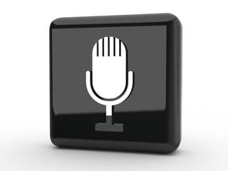 Button Mikrophon schwarz