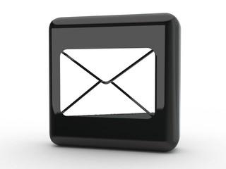 Button Mail schwarz