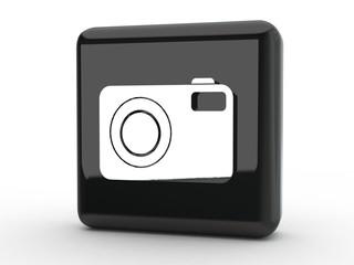 Button Fotoapparat schwarz