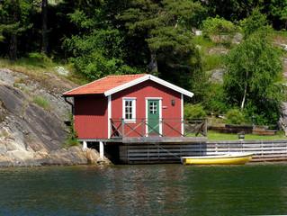Hütte am Meer