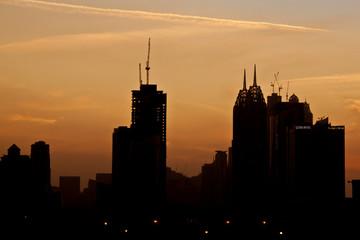 sunset downtown shape