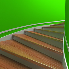 Spiral staircases. 3d