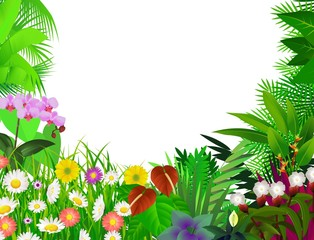 flower leaf background