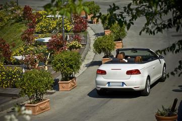 Fototapete - car driving