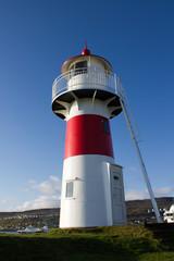 Leuchtturm in Tórshavn auf den Färöer Inseln