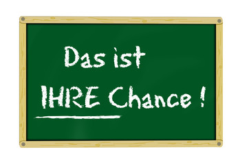 Holztafel - Chance