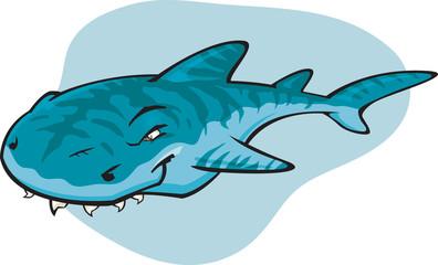 Cartoon Tiger shark