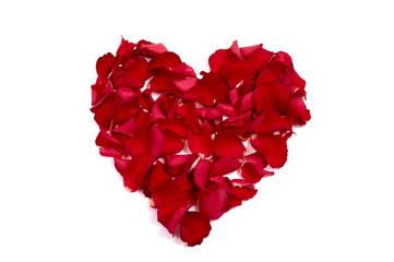 rose petals made of heart