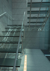 Modern glass stair / interior architecture