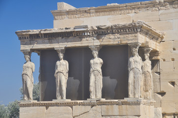 Athens, Greece - the Erechtheion caryatids