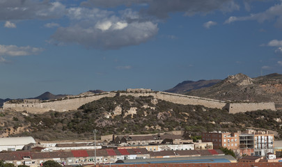 Old fortress ruins above cartagena, spain