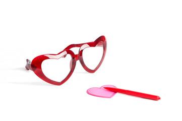 red glasses for valentine