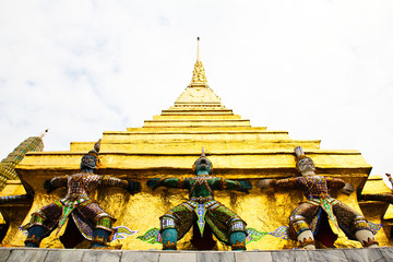 Guardian of Wat Pra Kaew Grand Palace ,Bangkok ,Thailand.