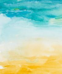 Obraz color strokes watercolor painting art - fototapety do salonu