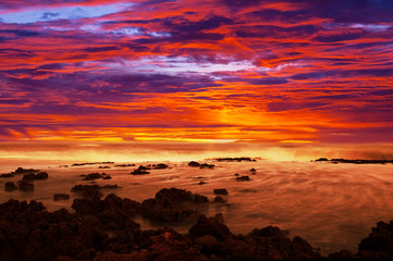 Wall Mural - Sea sunset