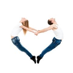 couple valentine's heart shape