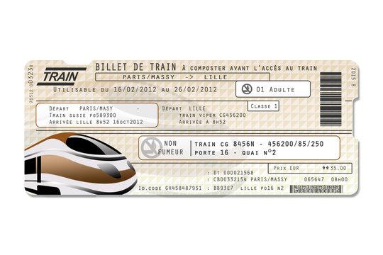 Faux billet de train