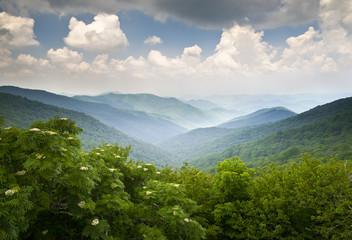 Blue Ridge Parkway Scenic Mountains Overlook WNC