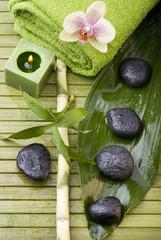 ambiente relax con orchidea e bambù