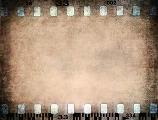 Grunge color filmstrip texture, photo film frame