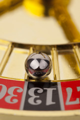 Macro shot of roulette