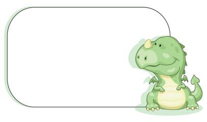 Cartoon dragon with copy space Vector eps 8