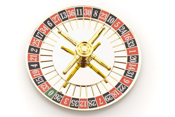 Roulette  and gambling chips