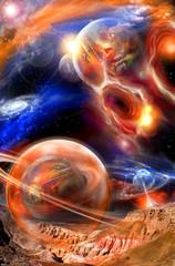 Obraz Krajobraz kosmiczny - fototapety do salonu