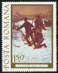 Infantry attack in winter