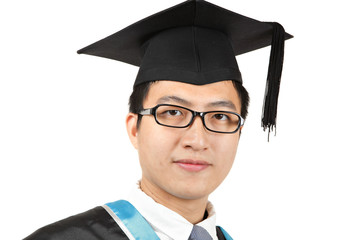 asian man graduation