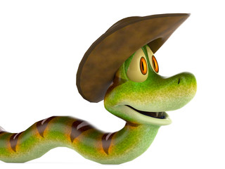 snake cowboy side view