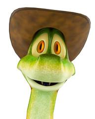 snake cowboy portrait