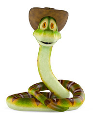 snake cowboy stand up