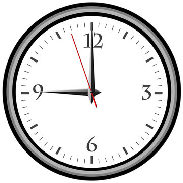 Uhr - Uhrzeit 9 am / pm