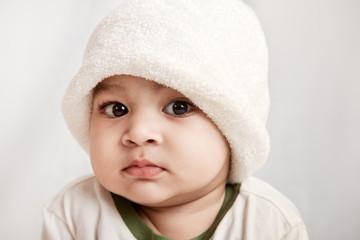 Indian curious boy baby
