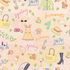 Spring summer season seamless background