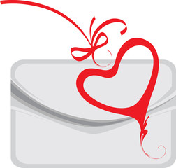 envelope and decorative heart