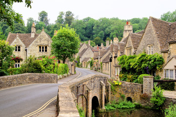 Old houses in Castle Combe, England