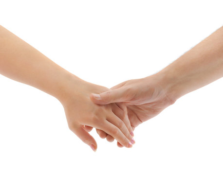 Man and woman hands