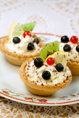 Tasty tarts  with cottage cheese