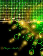 abstrakter hintergrund - diskothek - grün