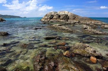Stones on the tropical beach