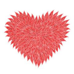 Fluffy Red Heart