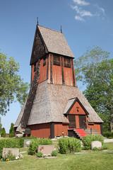 Gamla Uppsala carillon on cemetery