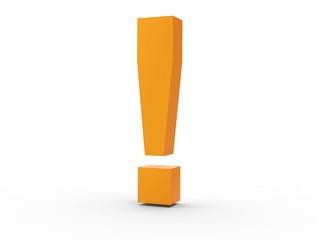 Icon Ausrufezeichen orange