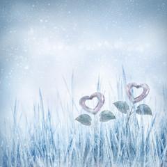 Valentines frozen hearts