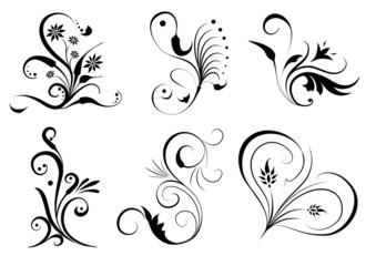 Florale Design Ornamente