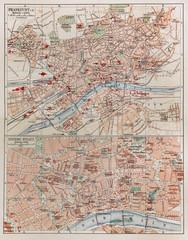 Vintage map of Frankfurt